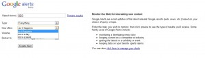 Google Alerts social media monitoring